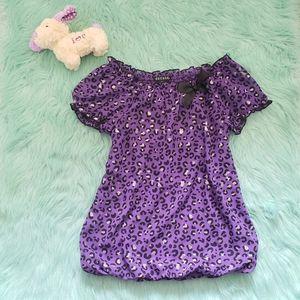 💥5 for $25💥   Purple Leopard Print Dress